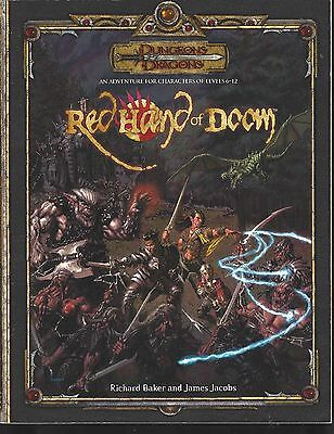 Dungeons & Dragons 3.5 Edition Red Hand of Doom with Map Handout!!!