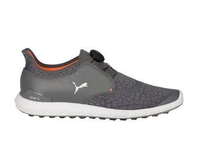 Puma Ignite Disc Extreme Golf Shoes 190169-03 Smoked Pearl/Silver Men's - New