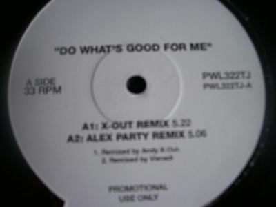 """2 UNLIMITED Do Whats Good For Me UK 12"""" promo"""