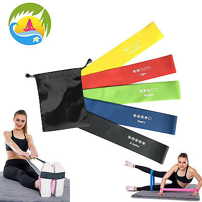 Resistance Bands Exercise Loop Crossfit Strength Weight Training Fitness - 5 Set