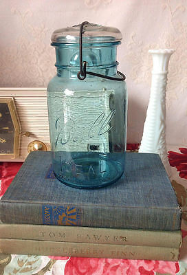 Vintage Ball Blue Mason Jar Quart Size