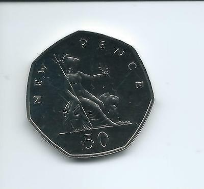 1975 Royal Mint Proof  50p taken from a Royal Mint Proof Set.