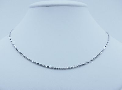 18ct Solid White Gold 50cm Wheat Chain Necklace 4.13gms