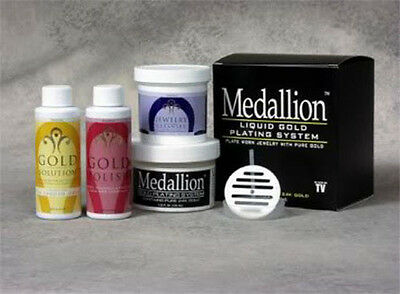 Medallion Gold solution System  -Liquid Gold Plating System, by Medallion - NEW