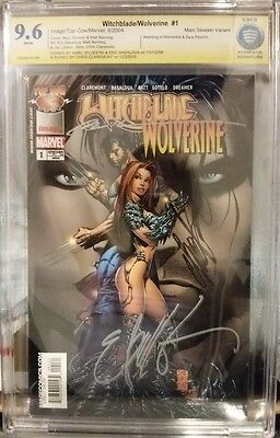 MARVEL IMAGE Comics Witchblade Wolverine #1 CBCS 9.6 NM+ Signed 3X no CGC LOGAN