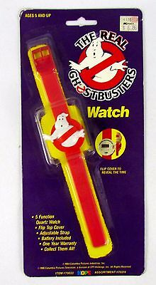 THE REAL GHOSTBUSTERS Vintage 1989 3D GHOST LOGO Figure Digital Watch SEALED