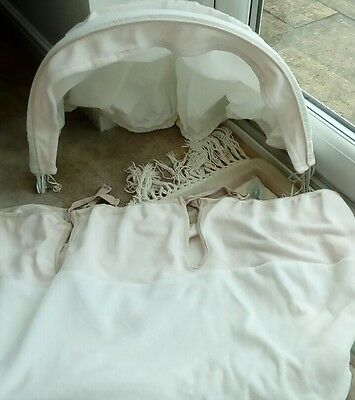MOSES  BASKET COVER  SET 2  PIECE BEIGE VELOUR- mothercare