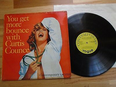 Curtis Counce Lp You Get More Bounce With Curtis Counce Rare Uk 1957 Lac12133