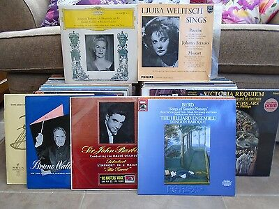 CLASSICAL JOB LOT 90 LPs > SEE ALL PICS > DGGs > some scarce LPs VAST MAJORITY E