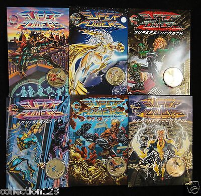 Australia 2014 - Young Collectors Super Powers Invisibility $1 Coin,Set of 6 PCS