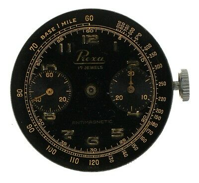 Prexa Watch Ltd Black Dial Landeron 48 Chronograph Movement AOZ Crown