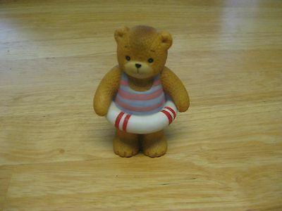 Lucy Rigg Vintage 1985 Lucy And Me Swimming Bear Figurine