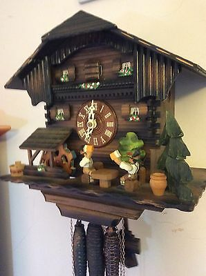 Musical Cuckoo Clock Black Forest Spares or Repairs