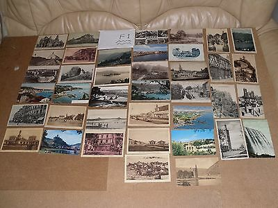 Job Lot Mix 40 Different Old Foreign Postcards 16 Posted Stamps B&w F1