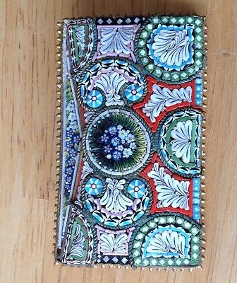 Vintage Large Part Belt Buckle - Millefiori - Possibly Italian Mosaic - Boxed