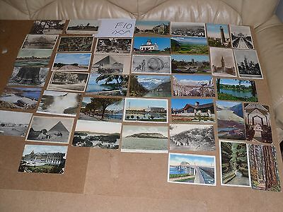 Job Lot Mix 40 Different Old Foreign Postcards 17 Posted Stamps B&w F10