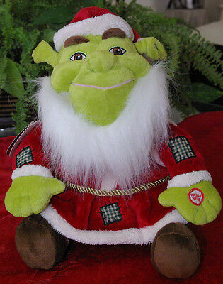 "Hallmark Shrek The Halls ""ogre Claus"" Christmas Plush Talking Dreamworks Toy"