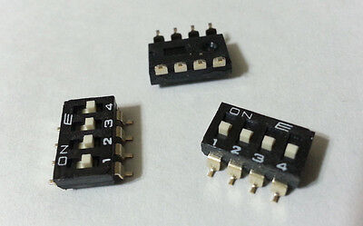 DIP Switch 4-Position OFF-ON SPST Slide E-Switch KAE04LGGT SMD PCB Mount 336pcs