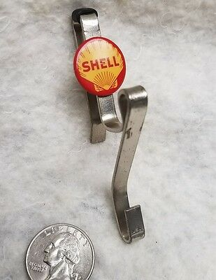 1930's - 50's Auto Car Truck Accessory Shell Oil Gas Co. Window Clothes Hat Hook