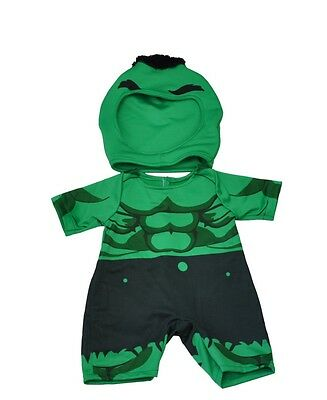"Green hulk giant outfit teddy bear clothes fits 15"" Build a Bear"