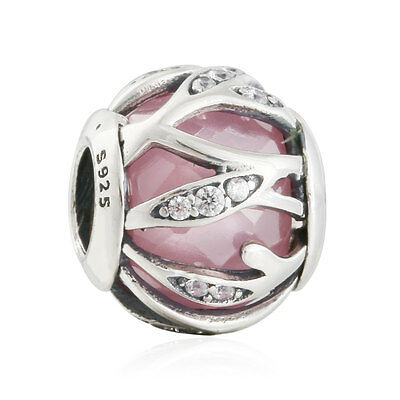 authentic sterling silver genuine charms Radiance Abstract CZ Stone charm Beads