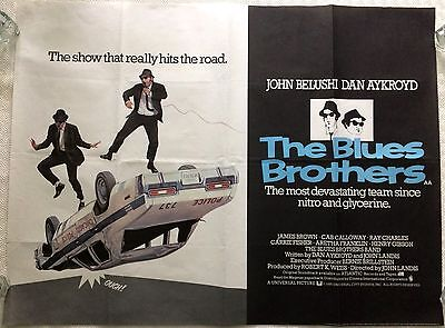 The Blues Brothers Original British Movie Quad 1980 Dan Aykroyd, John Belushi