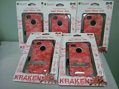 New! Lot of 5 Authentic Trident Kraken Pink holster CASE FOR IPHONE 4/4s