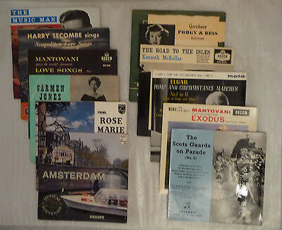 Collection of eleven 1960's vintage 45 rpm records in colour glossy sleeves