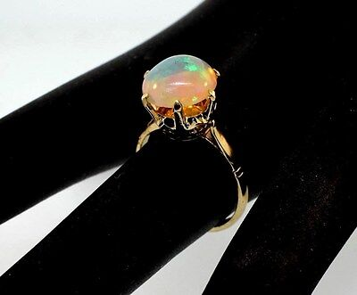 Antique opal ring 14k yellow gold size 6