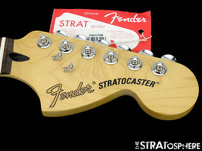 Fender Deluxe Roadhouse Stratocaster NECK+ LOCKING TUNERS Strat 6105 Rosewood