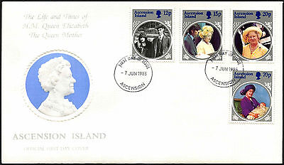 Ascension Island 1985 The Queen Mother FDC First Day Cover #C42347