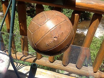 """Rare Vintage """"No Lace"""" All Leather Soccer Ball"""