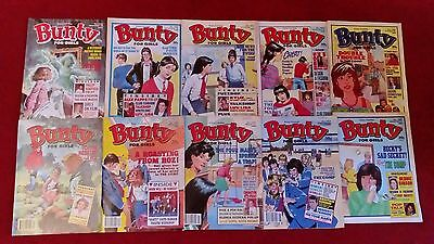 10 Issues Of The Bunty Comics. Dated. 1989-90
