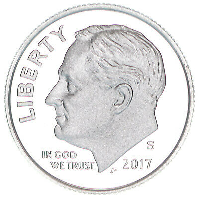 2017 S Roosevelt Dime Gem Deep Cameo 90% Silver Proof US Coin