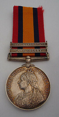 Queens South Africa Medal - 2 Clasps Lieutenant Colonel Died Of Disease 1900