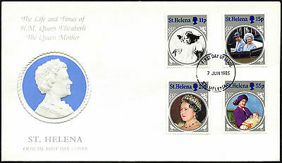 St. Helena 1985 The Queen Mother FDC First Day Cover #C42371