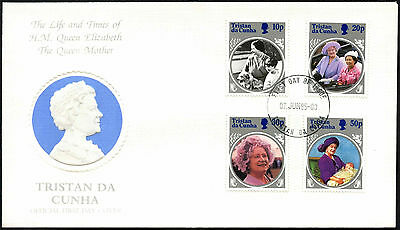 Tristan Da Cunha 1985 The Queen Mother FDC First Day Cover #C42379
