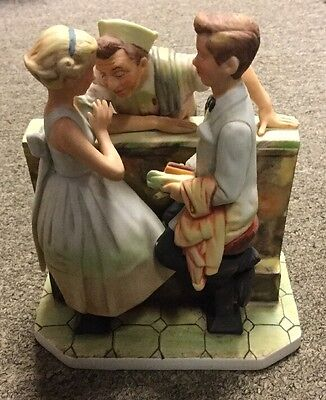 Gorham Norman Rockwell Saturday Evening Post Figurine 1957 After The Prom