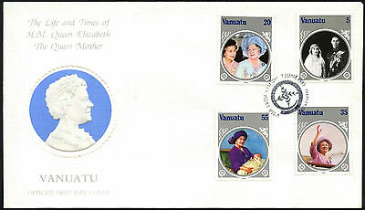 Vanuatu 1985 The Queen Mother FDC First Day Cover #C42381