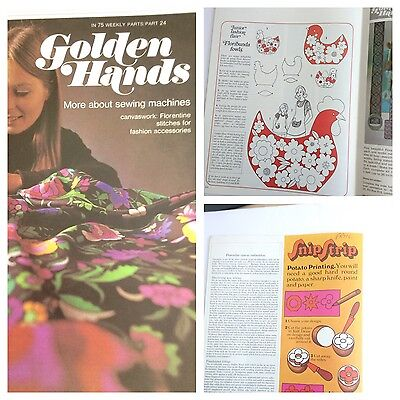 Golden Hands Magazine Knitting Dressmaking Embroidery Sewing Guide