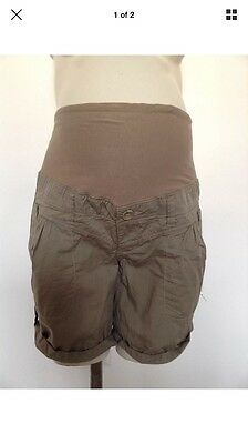H&M Maternity Beige Shorts Size 10
