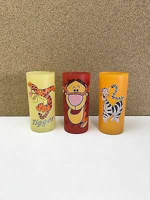 Disney Store Exclusive Winnie The Pooh Set Of 3 Tigger Glasses