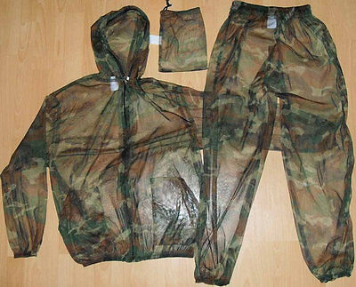 Russian Army Mosquito net mesh mask summer suit Jacket&Pants with carrying bag