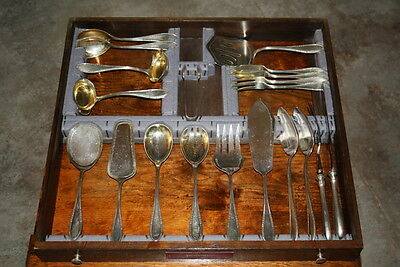 188 P 1900's 800 German Silver Flatware By Ja Henckeles Zwillingwerk 324 Ounces