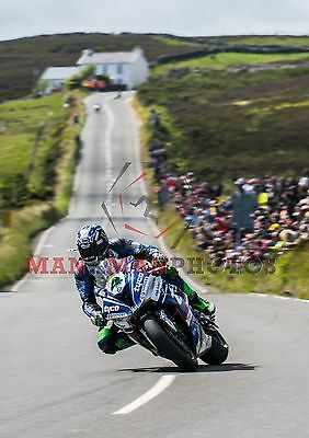 Ian Hutchinson 2017 Superbike  winner Isle of Man TT A4 size photo