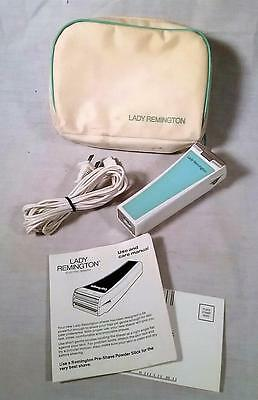 Vintage Lady Remington Electric Shaver Model 6M2L-1 W/ Manual & Case Made In Usa