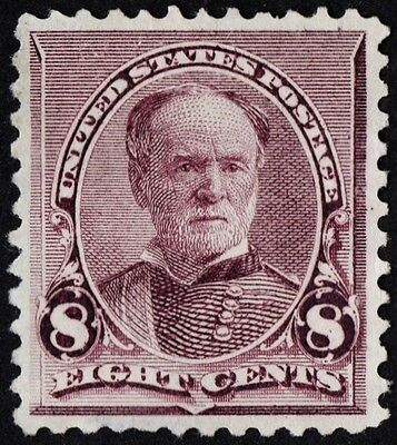 US Sc# 225 *UNUSED LH* { -XF- CENTERED } 8c WILLIAM T. SHERMAN BANK NOTE OF 1890