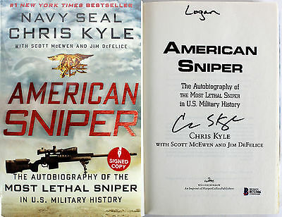 """Chris Kyle """"Logan"""" Authentic Signed American Sniper Hardcover Book BAS #B73206"""