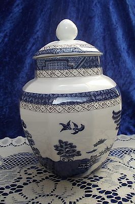 Royal Doulton Booths Real Old Willow TC 1126 Large 8'' inch Lidded Ginger Jar