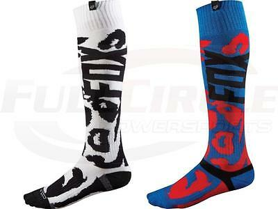 Fox Racing Coolmax Thin Marz Red Black/White Performance MX Riding Socks MTB/ATV